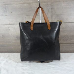 Madewell Transport Zip Black Leather Tote
